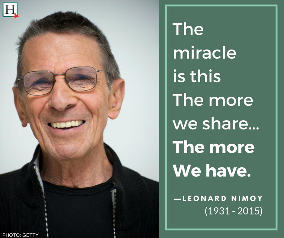 Leonard Nimoy Quote